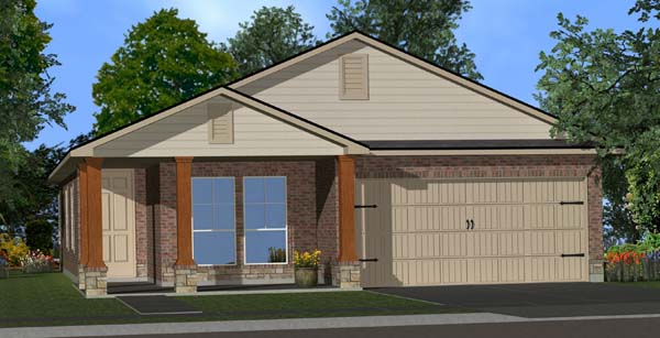 Killeen TX Homes DR Horton Rosewood Plan Elevation W