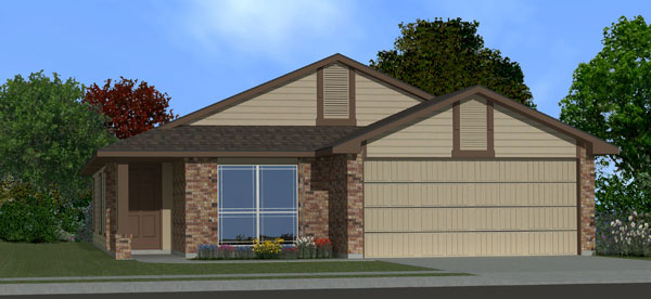 Killeen TX Homes Adra Plan Elevation L