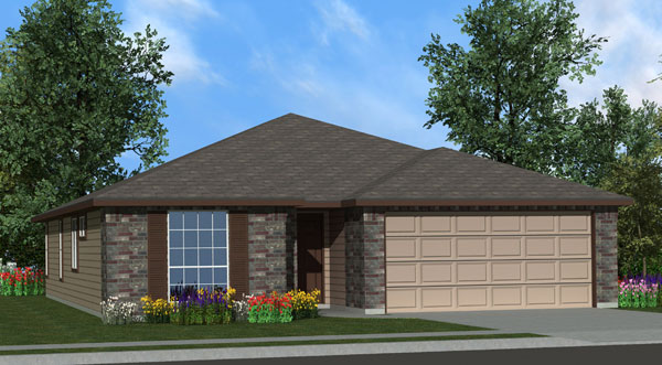 Killeen TX Homes  Eisenhower Plan Elevation A