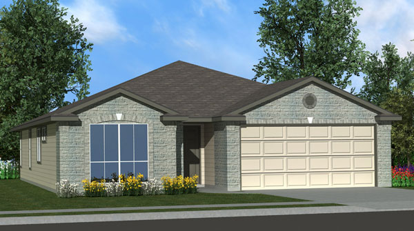 Killeen TX Homes Eisenhower Plan Elevation B