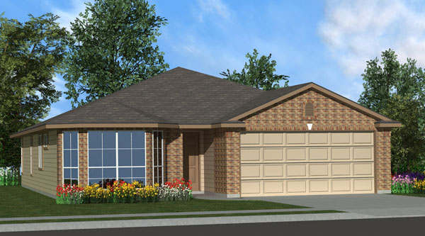 Killeen TX Homes Eisenhower Plan Elevation C