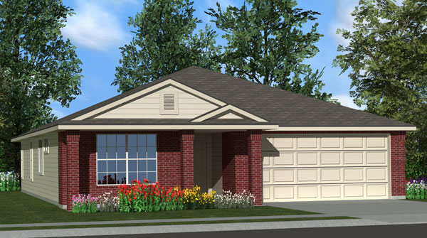 Killeen TX Homes Eisenhower Plan Elevation D