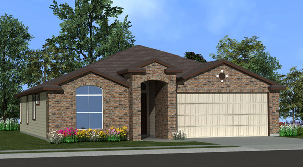 Killeen TX Homes Eisenhower Plan Elevation E