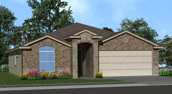 Killeen TX Homes Eisenhower Plan Elevation W