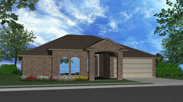 Killeen TX Homes Ceville Plan Elevation N