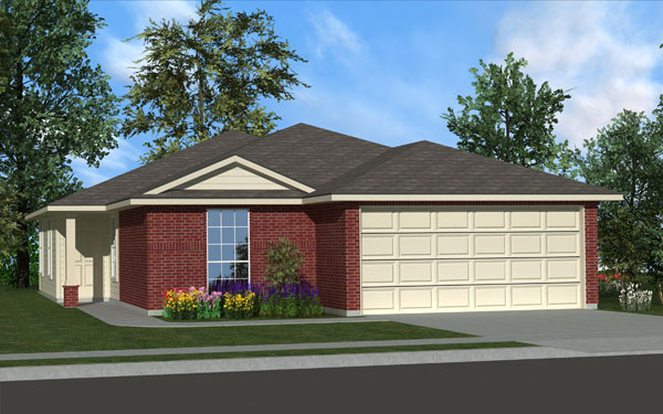 Killeen TX Homes Trueman Plan Elevation A