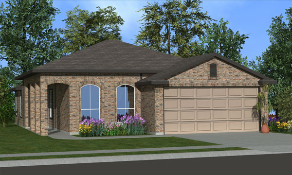 Killeen TX Homes Trueman Plan Elevation C
