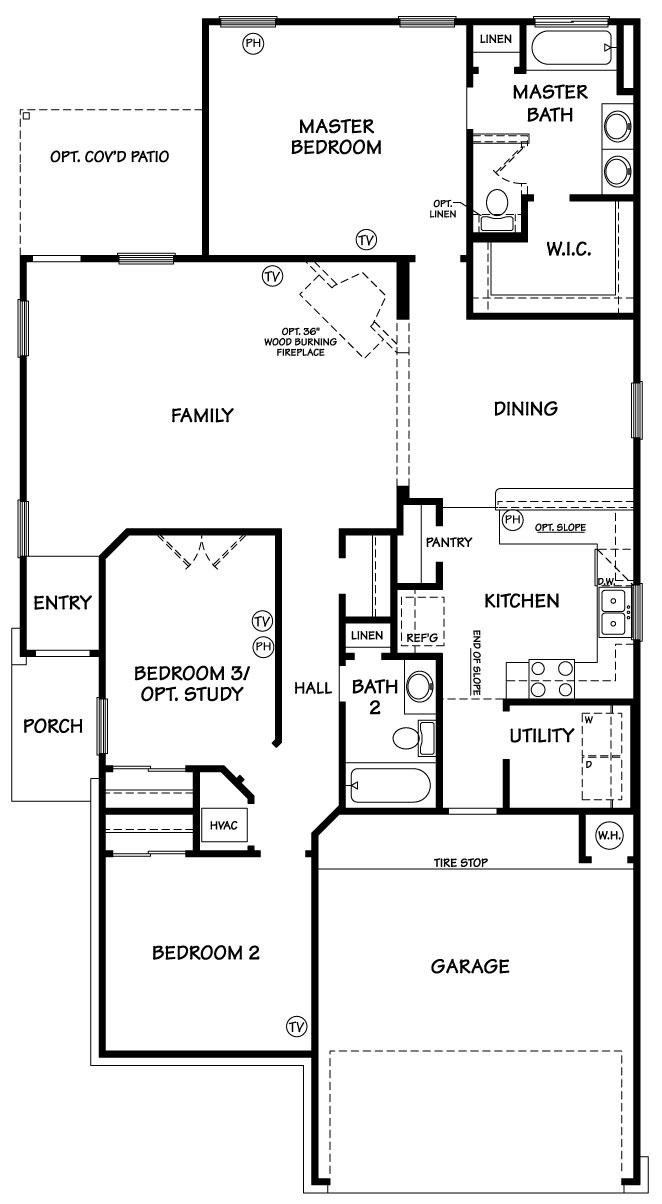 Killeen TX Homes Trueman Floor Plan