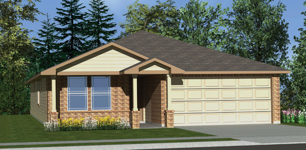 Killeen TX Homes The Roosevelt  Plan Elevation M
