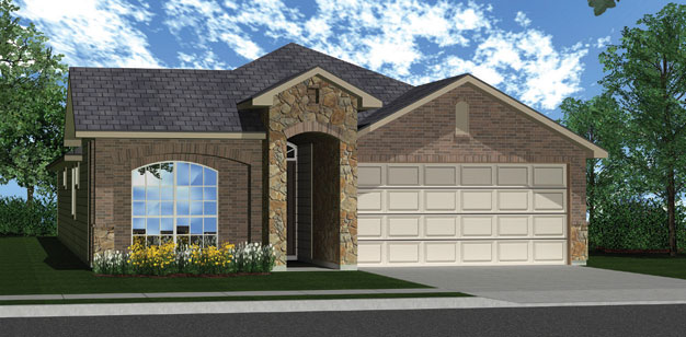 Killeen TX Homes The Roosevelt Plan Elevation W
