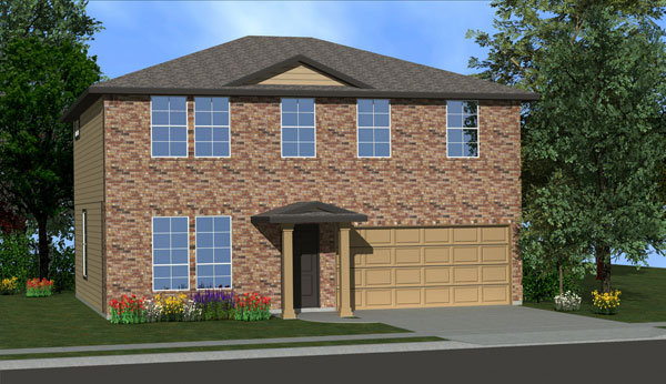 Killeen TX Homes The Washington Plan Elevation A