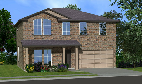 Killeen TX Homes The Washington Plan Elevation B