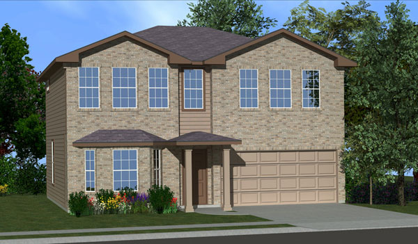 Killeen TX Homes The Washington Plan Elevation C