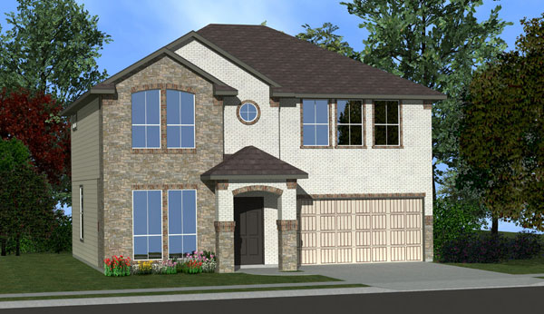 Killeen TX Homes The Washington Plan Elevation W