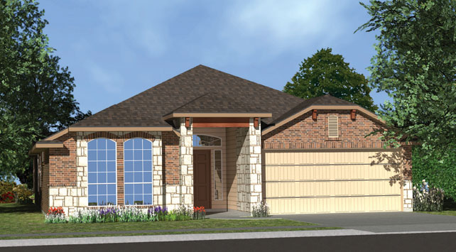 Killeen TX Homes Angeles Plan Elevation Y