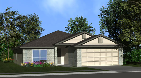 Killeen TX Homes LincoIn Plan Elevation B