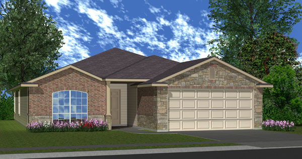 Killeen TX Homes LincoIn Plan Elevation W