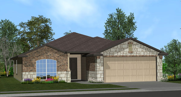 Killeen TX Homes LincoIn Plan Elevation W4