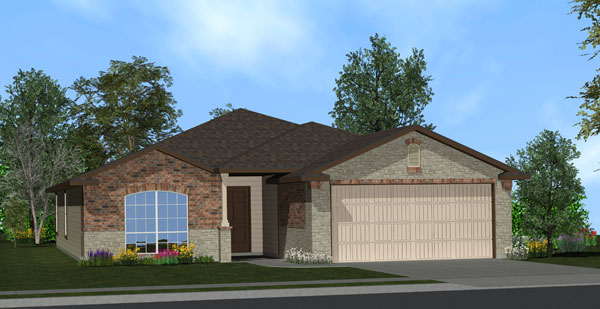 Killeen TX Homes LincoIn Plan Elevation W5