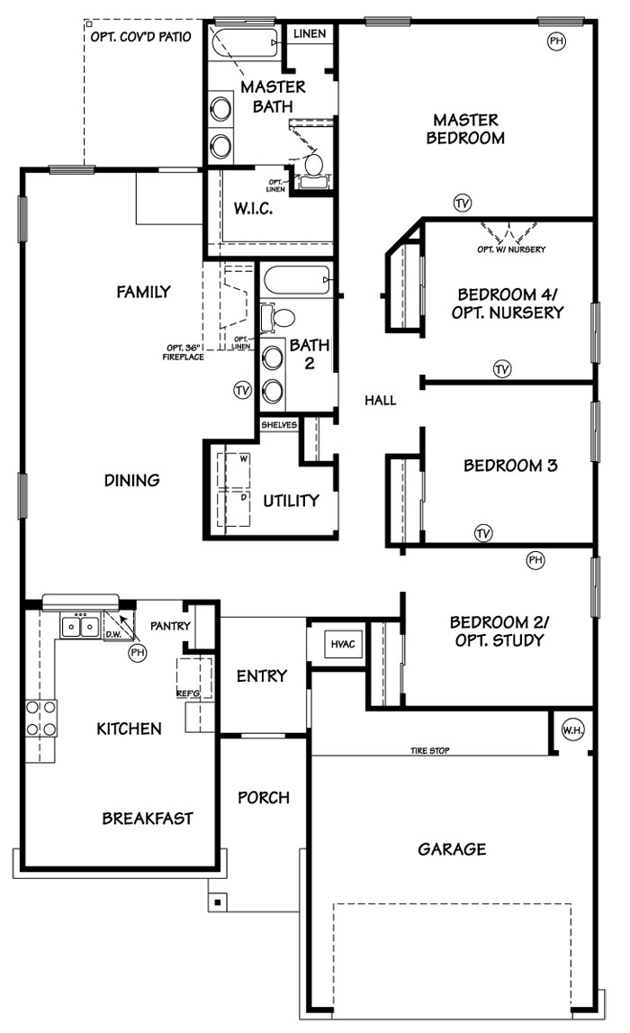 Killeen TX Homes LincoIn Floor Plan