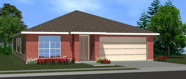 Killeen TX Homes Denali Plan Elevation A