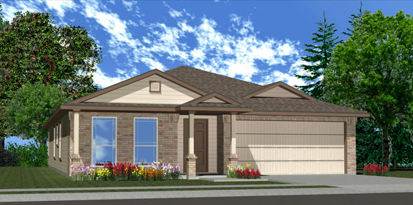 Killeen TX Homes Denali Plan Elevation C
