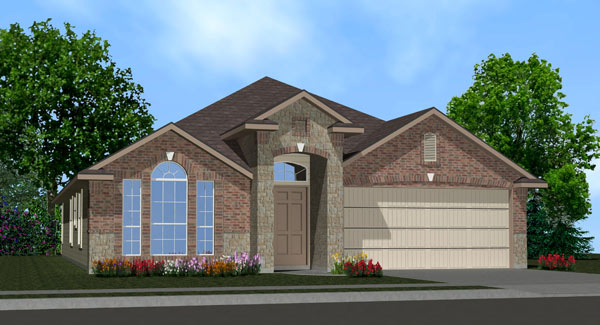 Killeen TX Homes Denali Plan Elevation W2
