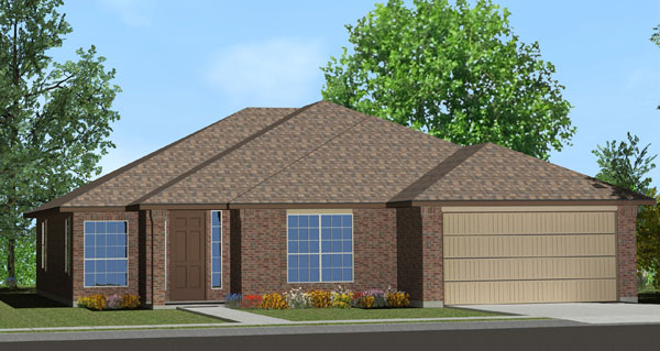 Killeen TX Homes The Davenport Plan Elevation K