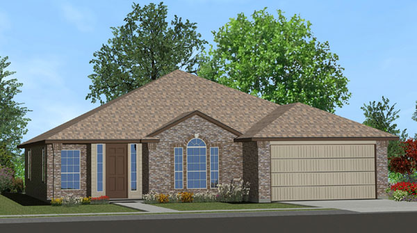 Killeen TX Homes The Davenport Plan Elevation M