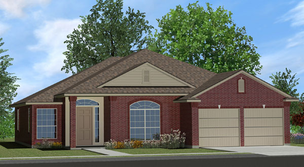 Killeen TX Homes The Davenport Plan Elevation N