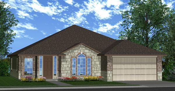 Killeen TX Homes Davenport Plan Elevation W