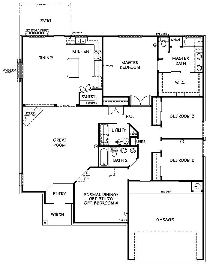 Killeen TX Homes The Davenport Floor Plan