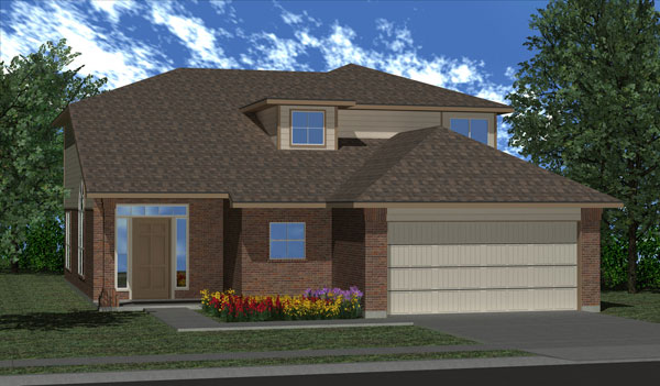 Killeen TX Homes Alcott Plan Elevation K