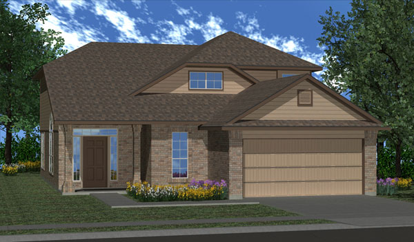 Killeen TX Homes Alcott Plan Elevation L