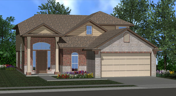 Killeen TX Homes Alcott Plan Elevation W