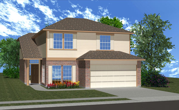 Killeen TX Homes Balcones Plan Elevation K