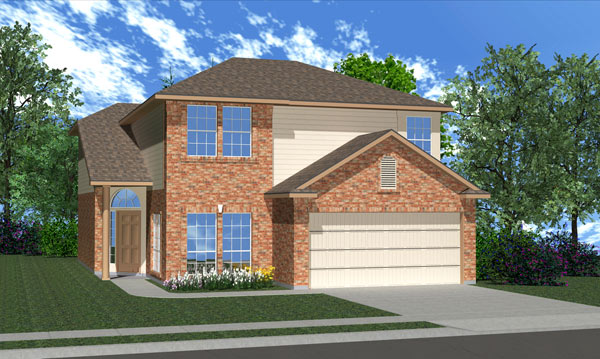 Killeen TX Homes Balcones Plan Elevation L