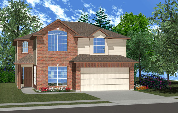 Killeen TX Homes Balcones Plan Elevation M