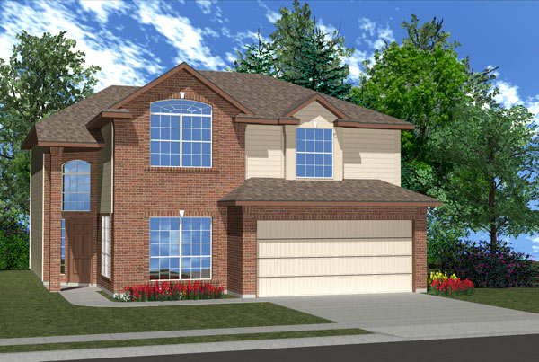 Killeen TX Homes Balcones Plan Elevation N