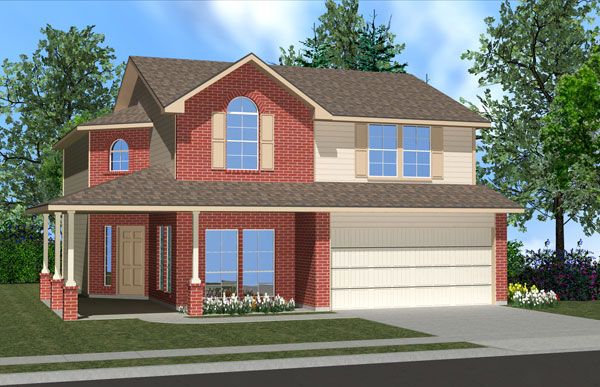 Killeen TX Homes Balcones Plan Elevation O
