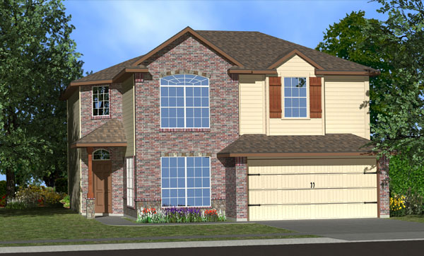 Killeen TX Homes Baclones Plan Elevation X5