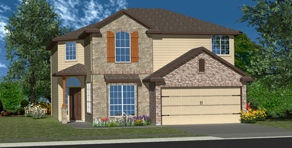 Killeen TX Homes Baclones Plan Elevation Y-4040