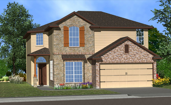 Killeen TX Homes Balcones Plan Elevation Y5