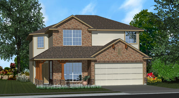 Killeen TX Homes Baclones Plan Elevation Z-4040