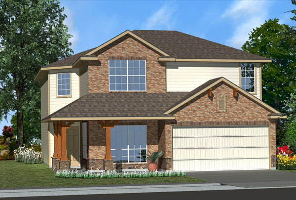 Killeen TX Homes Baclones Plan Elevation Z