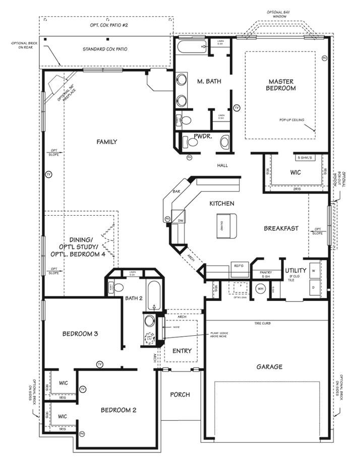 Killeen TX Homes The Sierra Floor Plan
