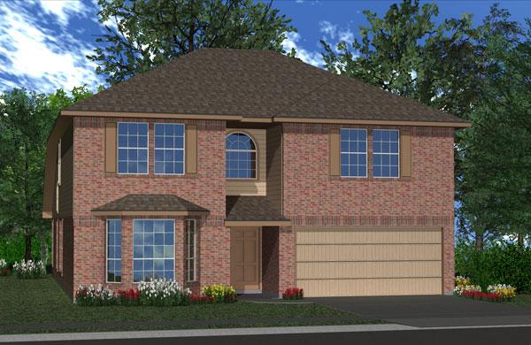 Killeen TX Homes Jasmine Plan Elevation K