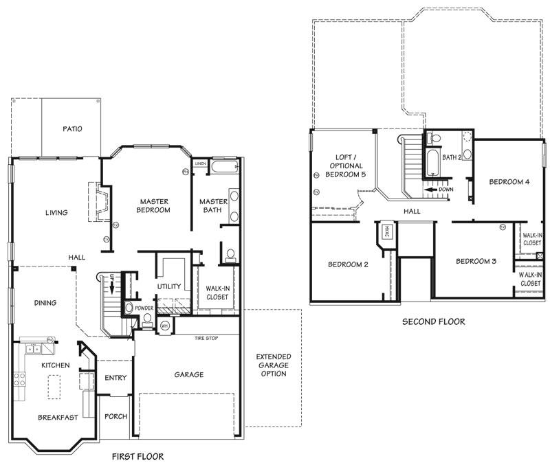 Killeen TX Homes Jasmine Floor Plan