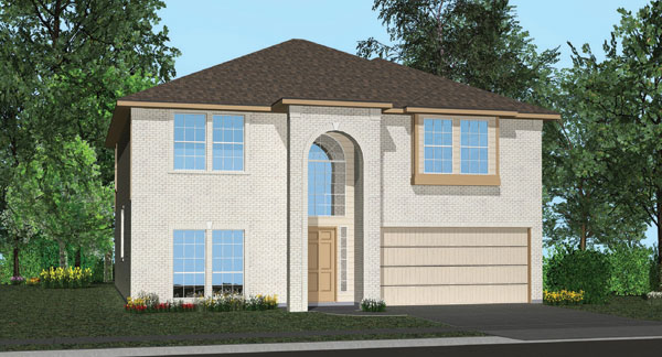 Killeen TX Homes The Charleston Plan Elevation K