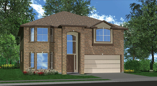 Killeen TX Homes The Charleston Plan Elevation L